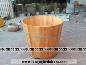 chuyên cung cấp bồn tắm tròn gỗ thông nhập khẩu