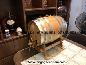 Bom đựng rượu trực tiếp bằng gỗ sồi