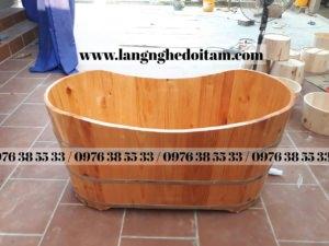 bán bồn tắm gỗ cao cấp gỗ thông đẹp