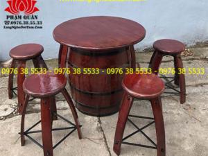 Bán Bàn ghế thùng gỗ trang trí