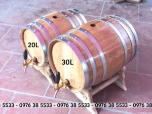 Thùng Ngâm rượu gỗ sồi 20L 30L
