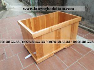 bán bồn tắm gỗ sồi hình vuông cao cấp tại hà nội