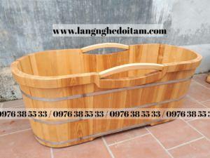 bồn tắm gỗ sòi ở hà nội