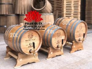 Thung ngâm rượu gỗ sồi 30l và 20l