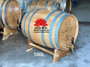 Thùng gỗ sồi ngâm rượu 100l
