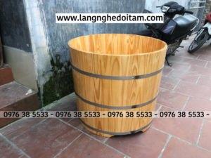 Bán bồn tắm gỗ thông tại Hà Nội